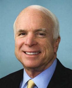 Senator John McCain (R-Ariz.) supports military intervention in Syria.