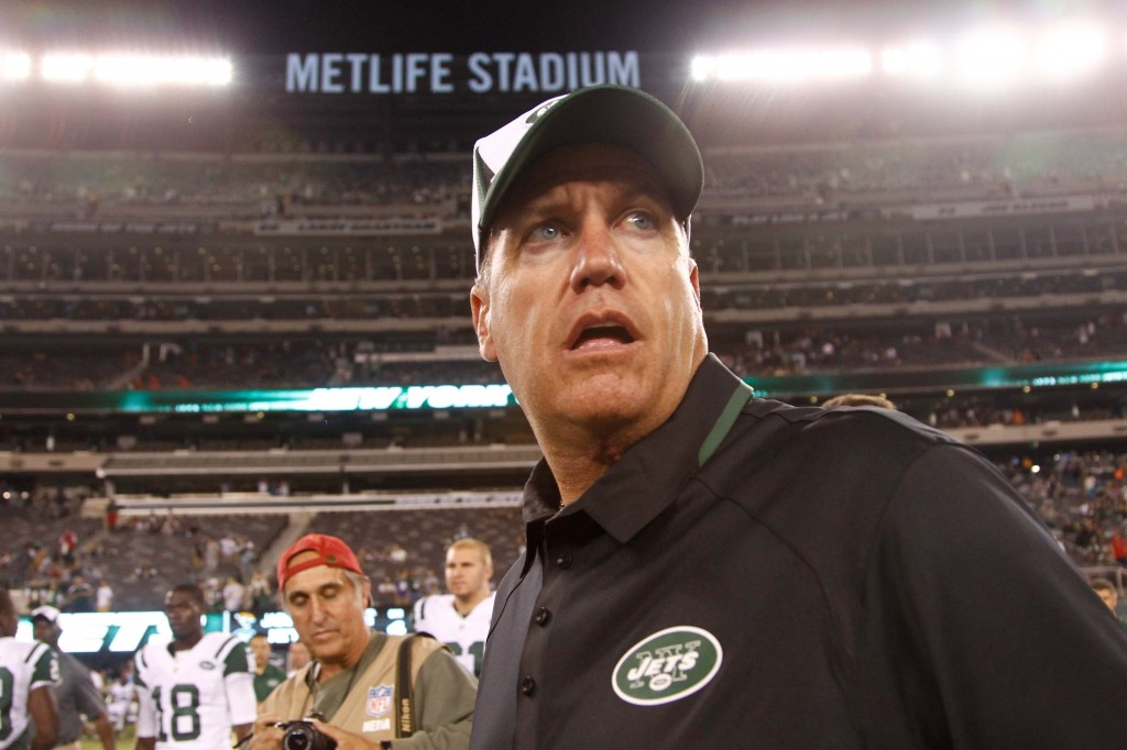 New York Jets head coach, Rex Ryan, along with GM John Idzik (not pictured) were fired today.