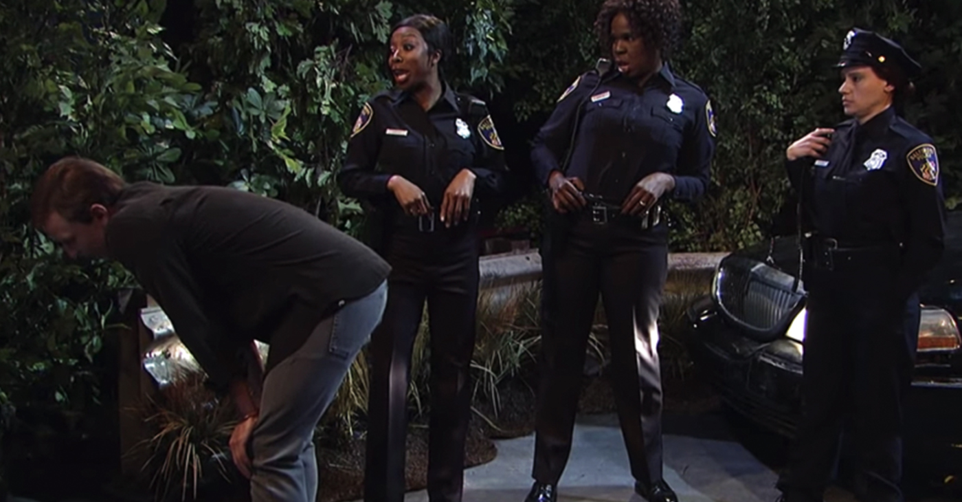 """""""Saturday Night Live,"""" the NBC comedy institution took aim at the Baltimore Police Department with a skit called, """"Thirsty Cops."""" (Screengrab)"""