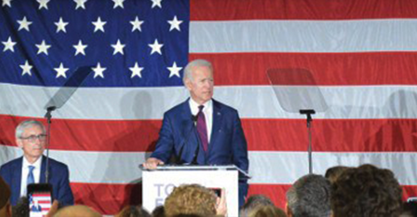 Wisconsin has a reputation of being decent and respectful and their politics should reflect that, Biden said.