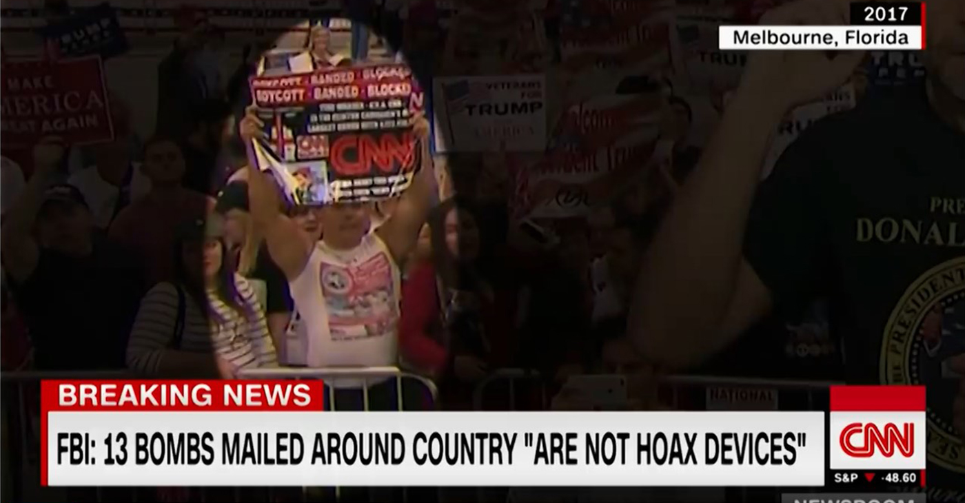 Cesar Sayoc, a White American male from Aventura, Florida, who has been charged with five Federal crimes, including mailing an incendiary device and threatening a former president. (Photo: Screen capture, CNN/YouTube)
