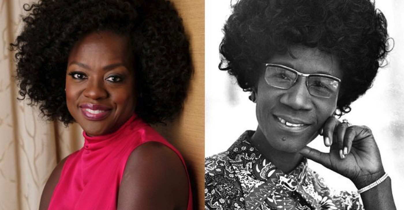 Oscar-winning actress Viola Davis will portray legendary politician Shirley Chisholm in a feature film for Amazon Studios. Chisholm was the first African American woman in U.S. history to be elected to Congress. (Photo: Twitter)