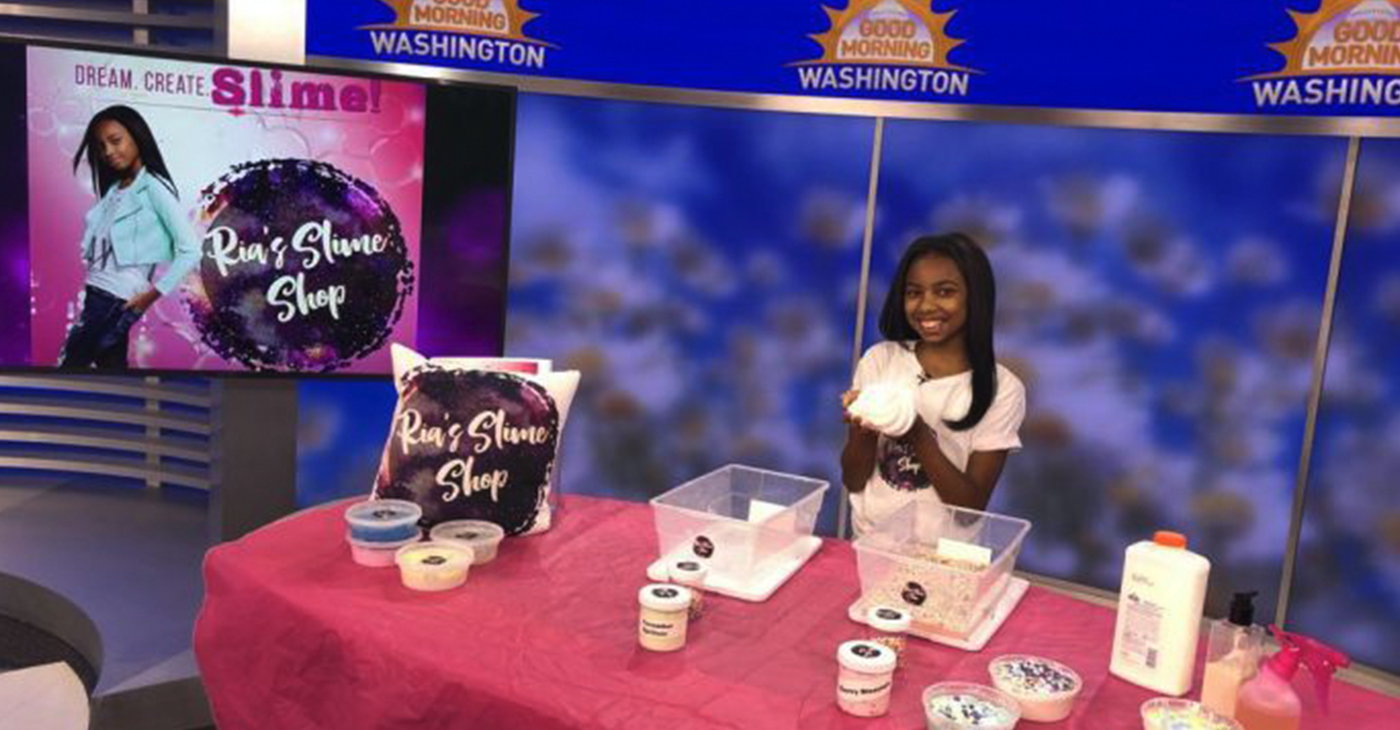 """""""The Science Princess"""" Maria Raquel Thomas is a 12-year-old entrepreneur specializing in science and stress relief with her business, Ria's Slime Shop. (Courtesy Photo)"""