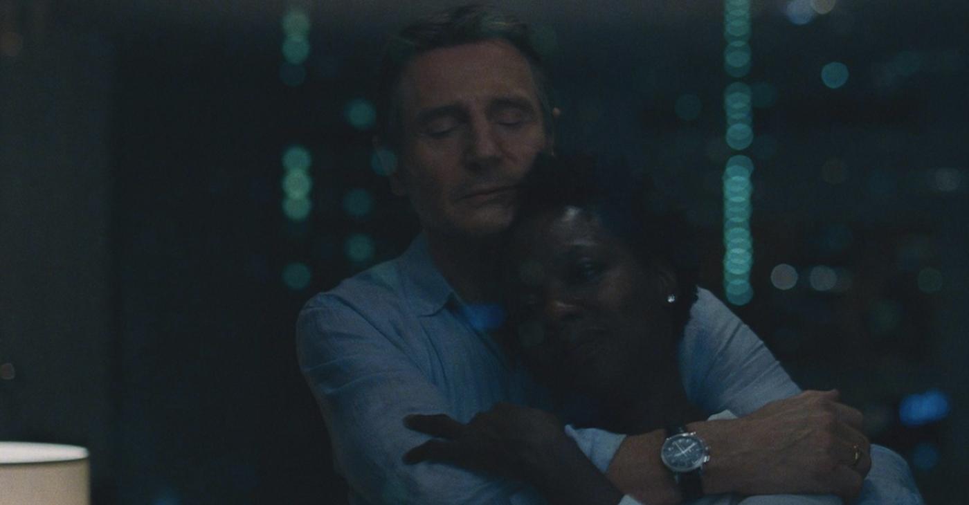 "Liam Neeson and Viola Davis star in ""Widows"""