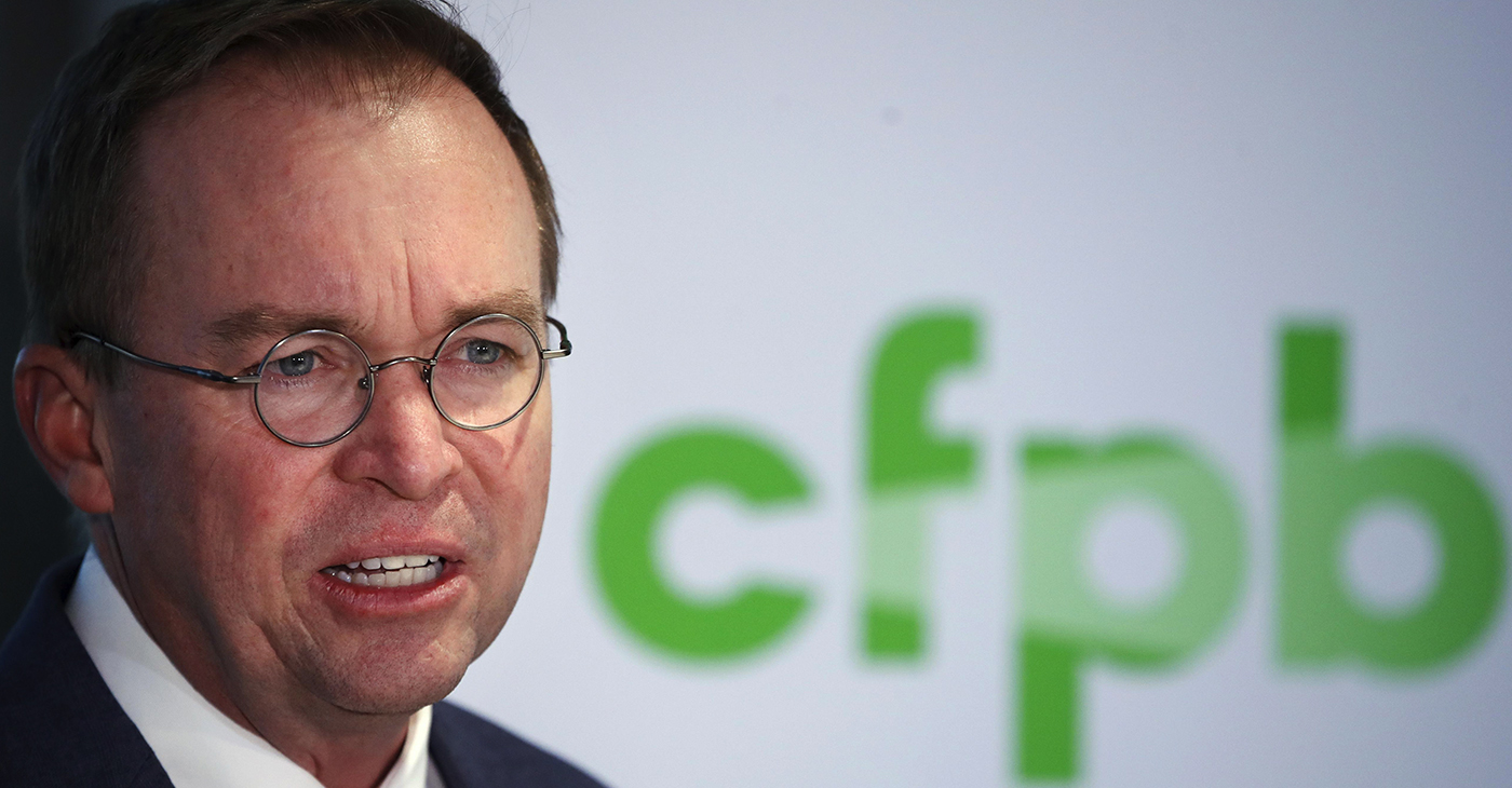 """[Donald] Trump and his appointees have done everything in their power to undermine the Consumer Bureau. Mick Mulvaney, who Trump installed to serve as Acting Director of the agency, dropped lawsuits and investigations into abusive payday lenders, took away the Office of Fair Lending and Equal Opportunity's enforcement powers, fired the members of the agency's Consumer Advisory Board, scaled back enforcement actions against bad actors, sought to slash the agency's budget, and apparently made it his mission to help out bad actors,"" said Congresswoman Maxine Waters."