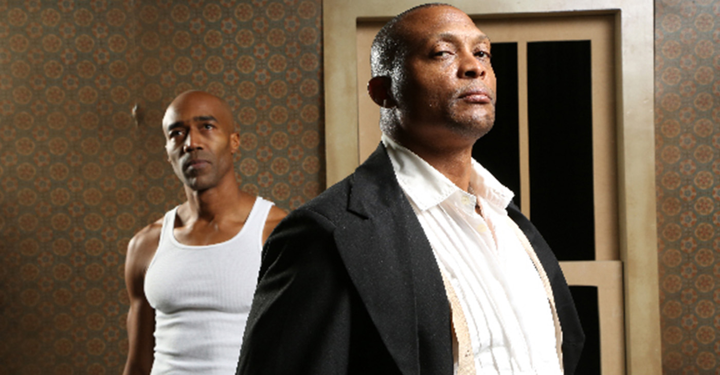 Joel Diggs and Eddie George star in Top Dog Underdog. (photo: Michael Scott Evans)