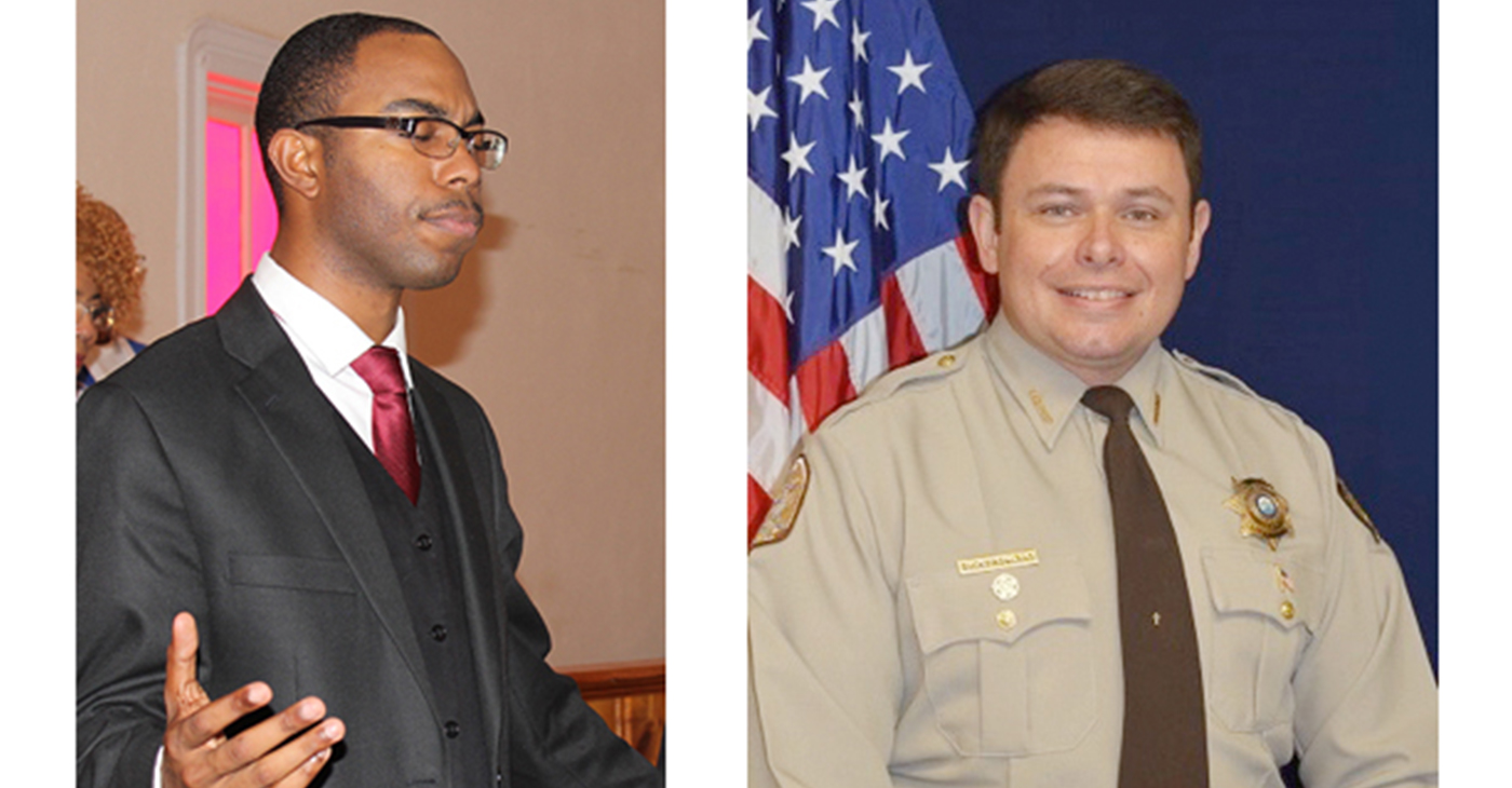 "Rev. T.D. ""Donte"" Byrdsong, left, and Sheriff Bucky Rowland (Photo by: tntribune.com)"