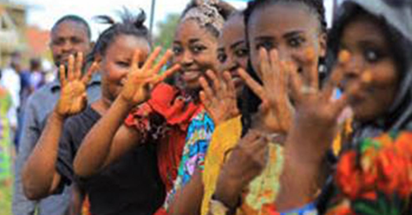 "Women ""mock"" voting in Beni"