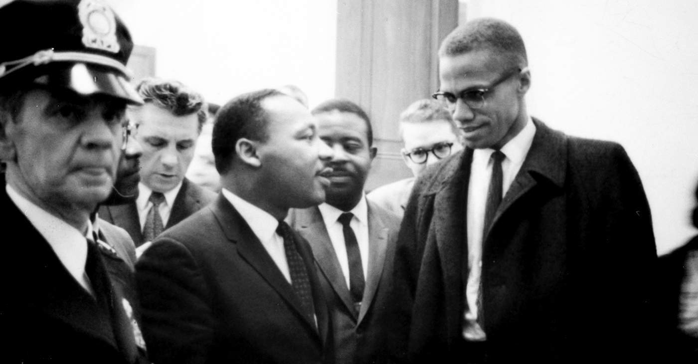 Martin Luther King Jr. and Malcolm X waiting for press conference, March 26, 1964. (Photo: Library of Congress, Prints and Photographs Division)