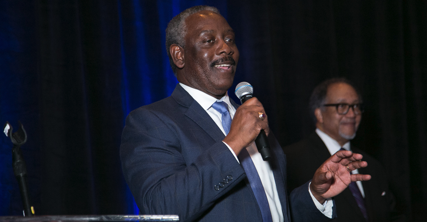 """Scheduled through Saturday, Jan. 26th, the conference theme was """"Innovation Training and Global Expansion of the Black Press of America."""" (Pictured: Orlando Mayor Jerry Demings and NNPA President and CEO Dr. Benjamin F. Chavis Jr. / Photo: Mark Mahoney)"""