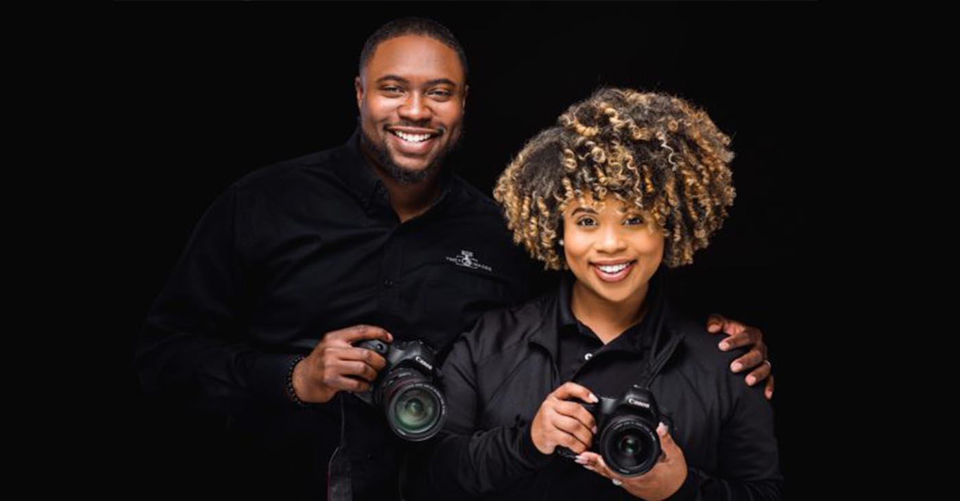 Minifield works alongside his wife, Haley, in his photography business. The couple has been married for a year. (Provided Photo)