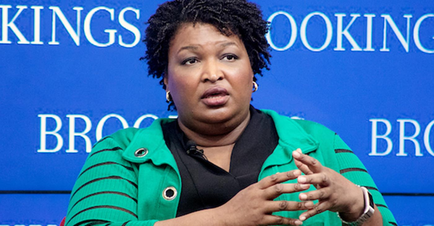 2018 Georgia Democratic gubernatorial candidate Stacey Abrams discusses her fight to end voter suppression during a conversation at the Brookings Institution in northwest D.C. on Feb. 15. (Shevry Lassiter/The Washington Informer)