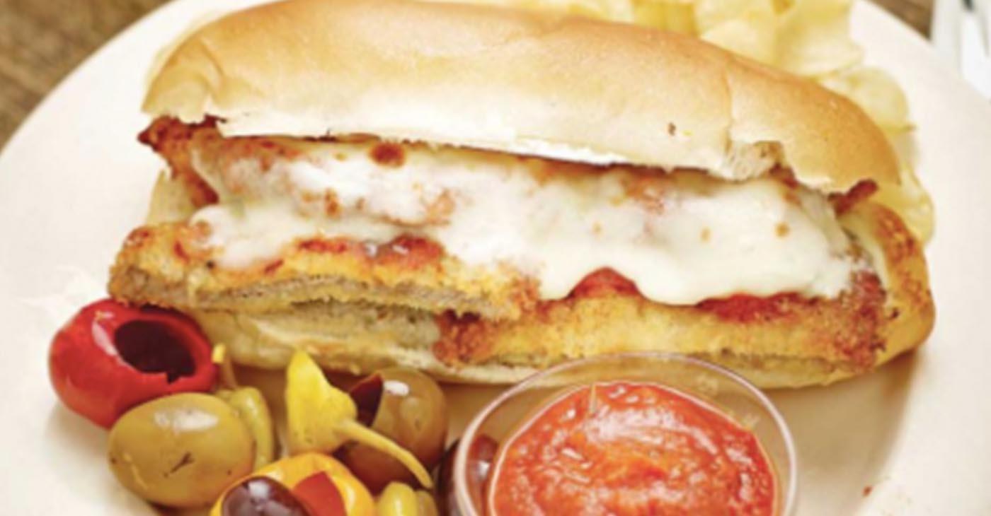 Veal Parmesan Sandwich