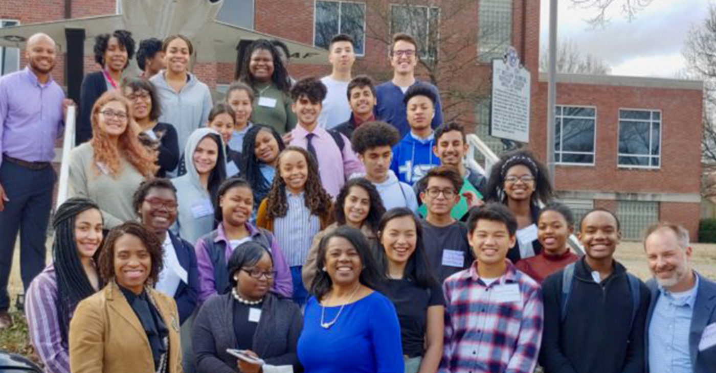 Hillsboro High School students at TSU's Honors Week.