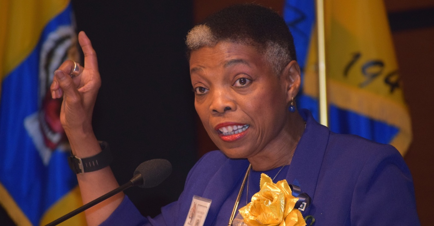 During a Manassas High School alumni celebration (2017), Dr. Rosie Phillips Davis (Class of 1967) spiced her narrative about the Manassas of her youth with stats that helped paint a picture of the challenges that the school and its neighborhood faced 50 years later. (Photo: Karanja A. Ajanaku)