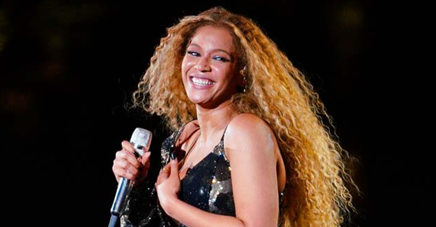 Beyoncé whips her hair back and forth during her performance at the 2018 Coachella Music Festival in Indio, California. (Photo credit: BeyZ/Splash News)