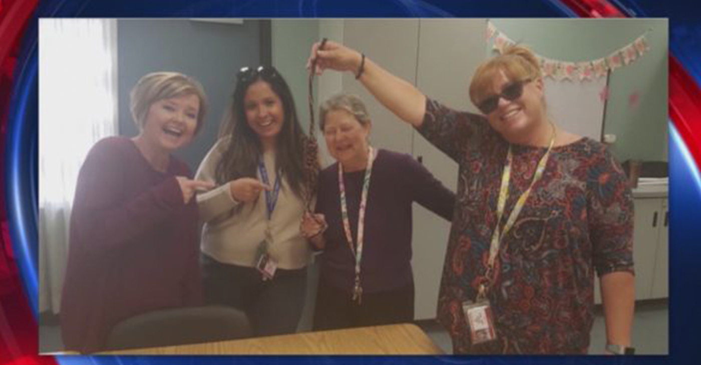 The photo was included in a mass email to staff sent by Principal Linda Brandt. (FOX 11 / video screenshot)