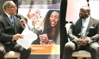 Dr. Benjamin F. Chavis, Jr. and Lester Booker., the project manager for communications operations at General Motors touted the fourth year of the popular Discover the Unexpected Journalism Fellowship program (DTU) that was developed by Chevrolet in 2016 as an HBCU fellowship program.