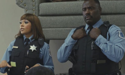 Chandra Russell as Sergeant Turner, Bashir Salahuddin as Officer Goodnight (Photo Credit: Comedy Central)