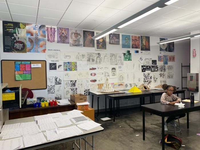 BAC students create projects to show the connection between African history and mathematics. (Imani Sumbi / Los Angeles Sentinel)