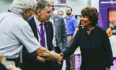 Rep. Maxine Waters (CA-43), Co-Chair of the Congressional Task Force on Alzheimer's Disease, attends the Annual Alzheimer's International Conference (AAIC) in Los Angeles and discusses new technology and scientific breakthroughs in the fight against Alzheimer's Disease. (Photo Courtesy of the Alzheimer's Association)