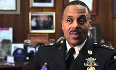 "Philadelphia Commissioner Richard Ross Jr. said the department terminated 13 officers who made ""posts that advocated violence."" He said 17 other officers still face ""severe disciplinary action,"" while another four will receive 30-day suspensions. (Photo: YouTube)"