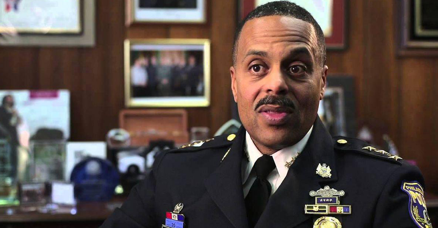 """Philadelphia Commissioner Richard Ross Jr. said the department terminated 13 officers who made """"posts that advocated violence."""" He said 17 other officers still face """"severe disciplinary action,"""" while another four will receive 30-day suspensions. (Photo: YouTube)"""
