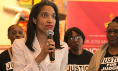 """""""The judge refused a motion for a retrial after he refused to poll the jury, in clear violation of the law and at the request of my attorney,"""" Tracie Hunter told NNPA Newswire during the annual National Newspaper Publishers Association (NNPA) annual convention in Cincinnati."""