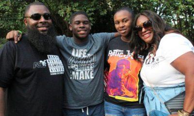 From left: Kenneth Marbry II; Kenneth Marbry III; Amariya Marbry and Patrice Marbry during Freedom Fest (Photo by: Ameera Steward | The Birmingham Times)