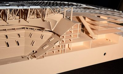 Cross section of model for proposed new Clippers arena (Photo by: blackvoicenews.com)