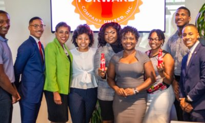 From left: Kendarius Youngblood, Talladega College; Zak Thornton, Tuskegee University; Casi Ferguson, United Negro College Fund; Brianna Jones, Miles College; Gabrielle Williams, Stillman College; Pamela Cook, Director of Multicultural Marketing and Community Affairs with Coca-Cola UNITED; Jada Jamison-Belser, Alabama State University; Pablo Vallejo, Stillman College and Bryant Williams, Alabama State University. (Amarr Croskey, For The Birmingham Times)