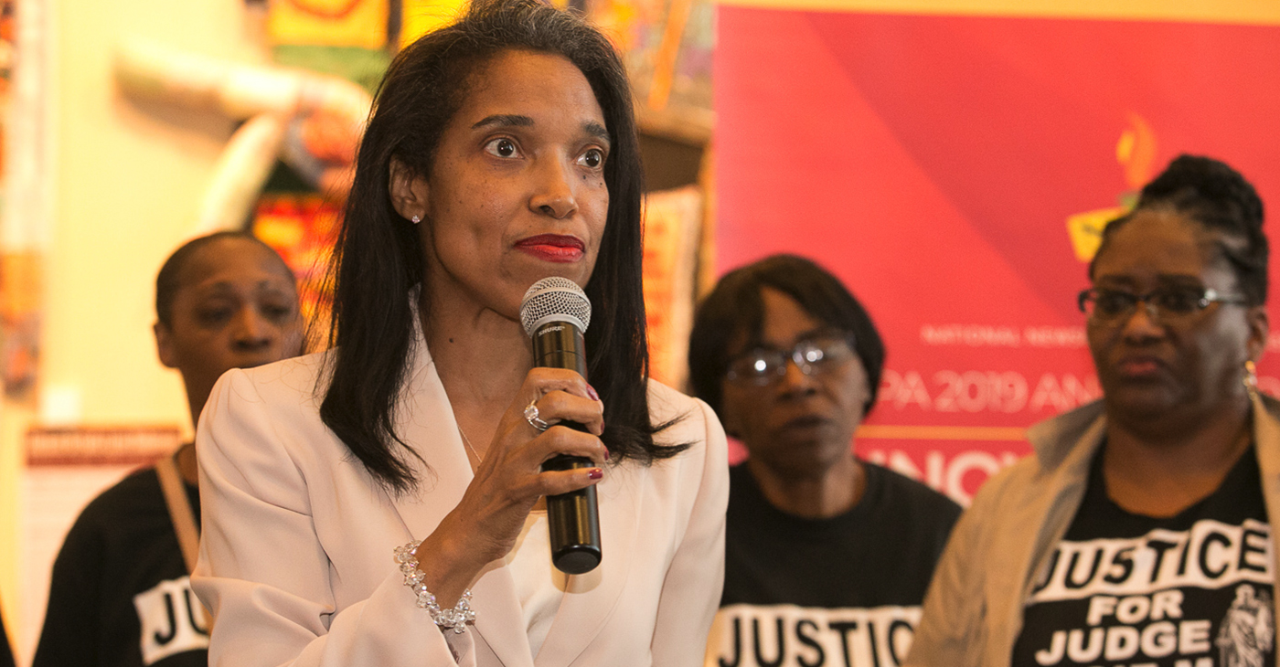 """The judge refused a motion for a retrial after he refused to poll the jury, in clear violation of the law and at the request of my attorney,"" Tracie Hunter told NNPA Newswire during the annual National Newspaper Publishers Association (NNPA) annual convention in Cincinnati."