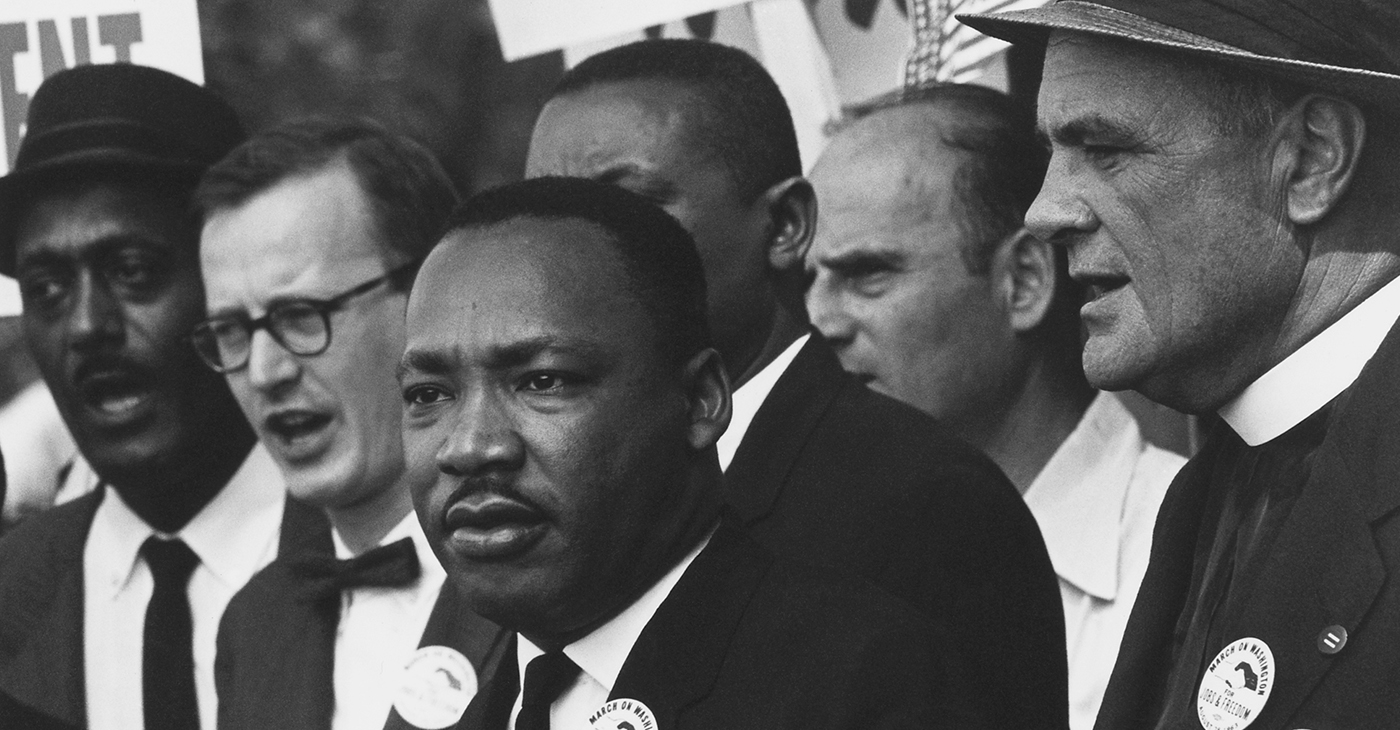 Dr. Martin Luther King, Jr. and Mathew Ahmann at the Civil Rights March on Washington, D.C. (National Archives)