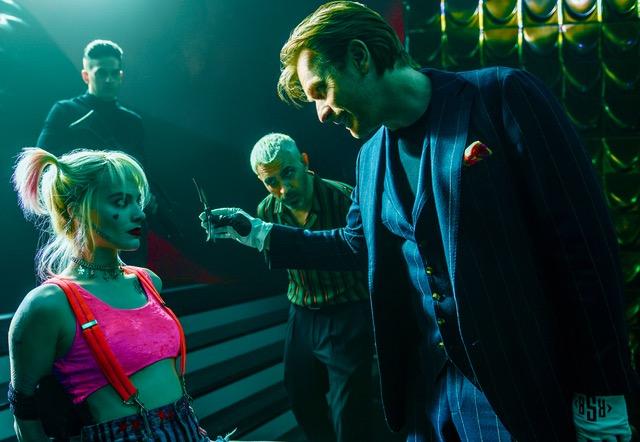 Margot Robbie, Chris Messina and Ewan McGregor in Birds of Prey