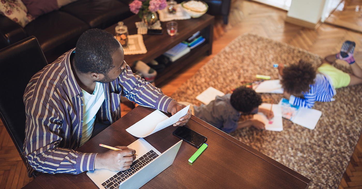 In an interview with a father of two who is a Web and Media Designer, he recommended that parents embrace this time together. (Photo: iStockphoto / NNPA)