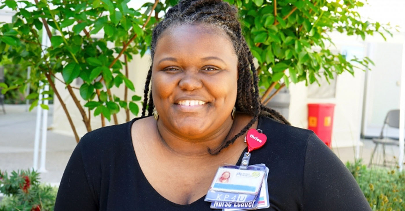 Tierra Norman, BSN, RN at Kaiser Permanente West Los Angeles Courtesy of Kaiser West Los Angeles
