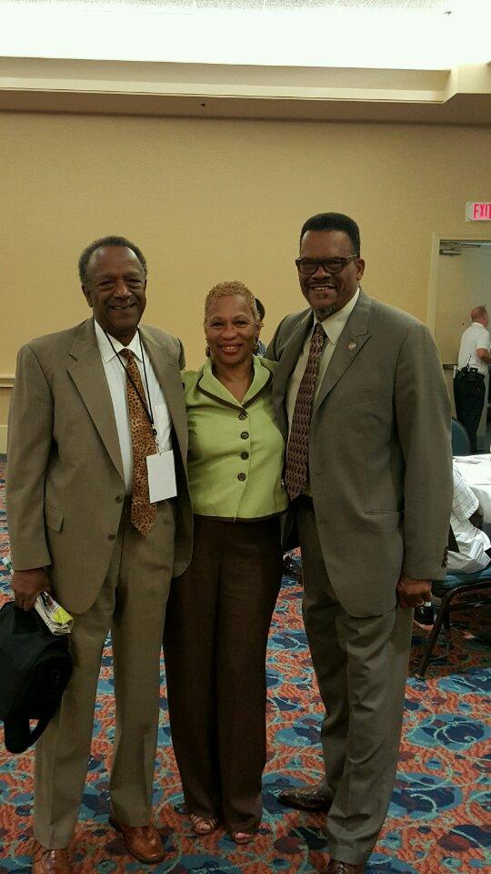 Gantt with Pensacola Voice Publisher Jackie Miles and Westside Gazette Publisher Bobby Henry