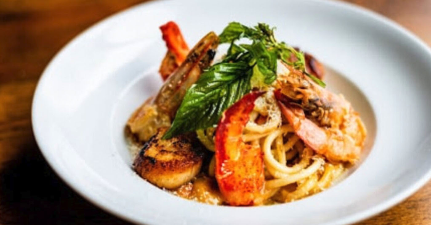 In celebration of Atlanta Black Restaurant Week, try out this seafood bucatini at Twisted Soul Cookhouse and Pours. (Courtesy / Black Restaurant Week)