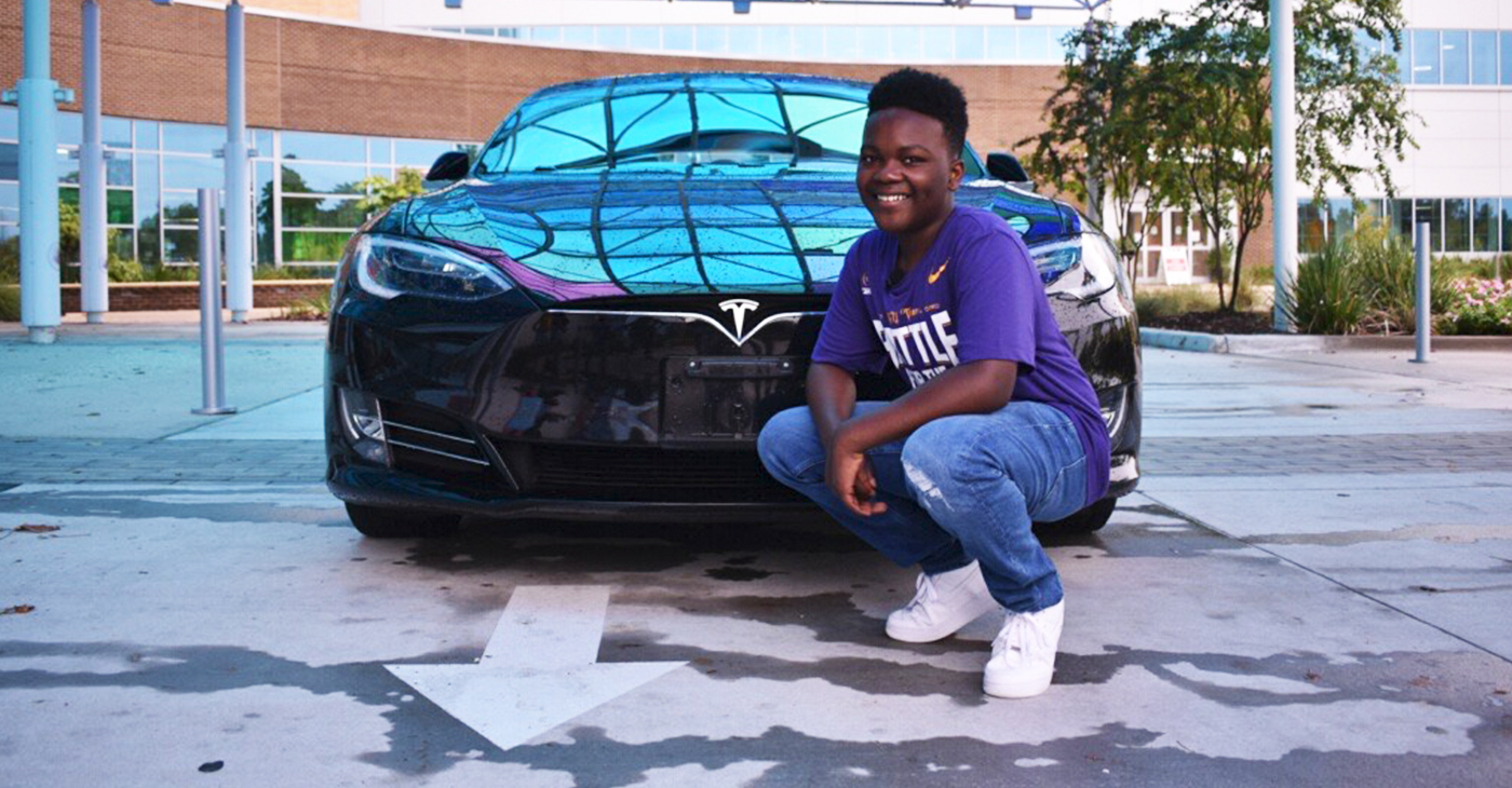 """Miles for Miracles 5k featured, """"Charging Up with Chad,"""" and a chance for Chad Barnes Jr. to ride in a Tesla."""