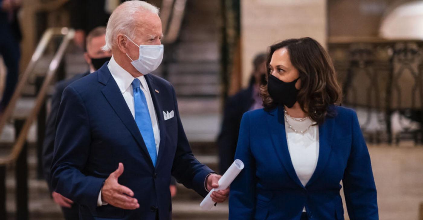 Former Vice President Joe Biden and Senator Kamala Harris (D-CA)