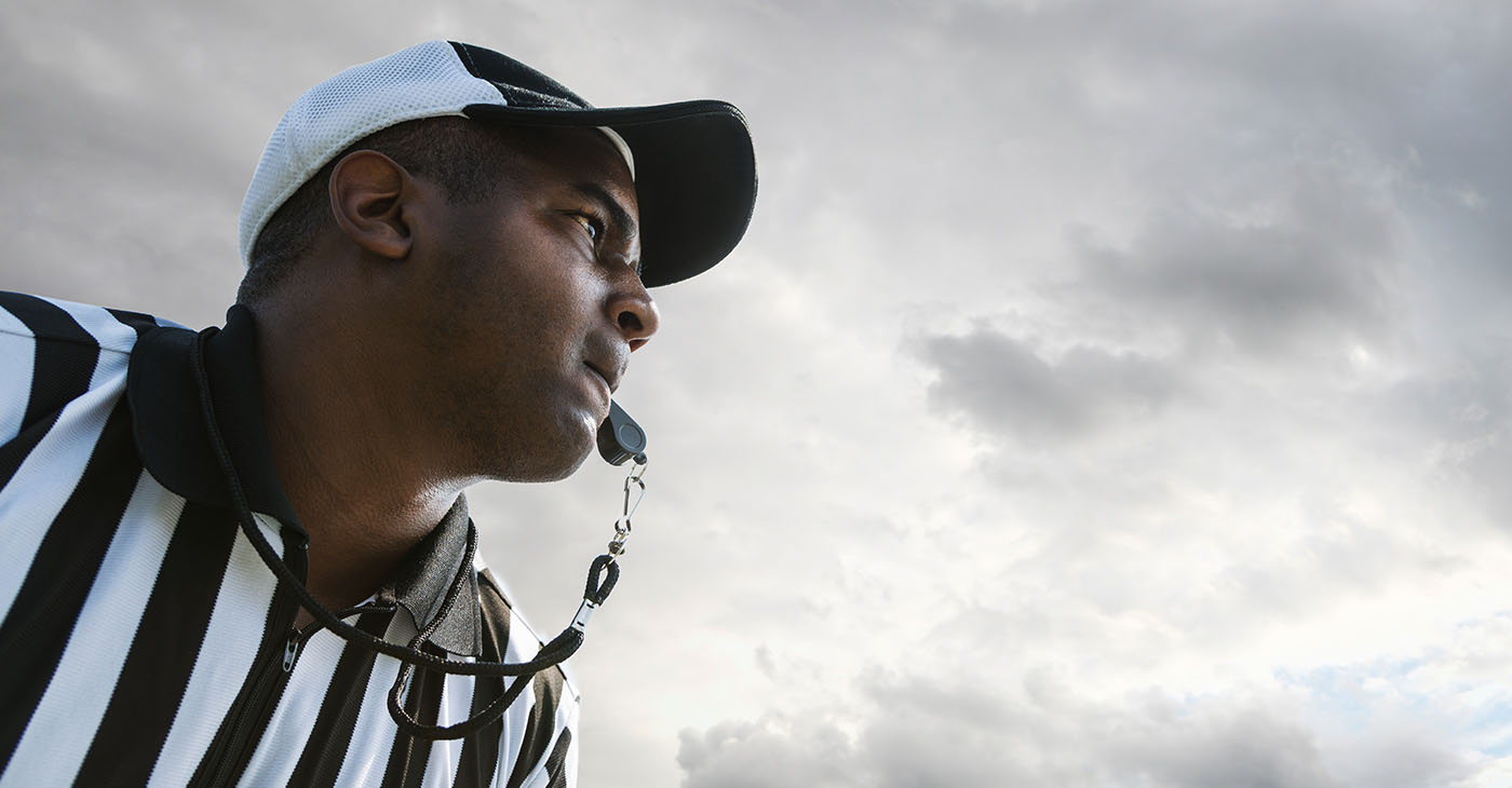 Five of the officials work together regularly, with Anderson, Mapp, Shaw, and Jeffries part of Boger's crew. Johnson and Steed will join the group for Monday's game. (Photo: iStockphoto / NNPA)