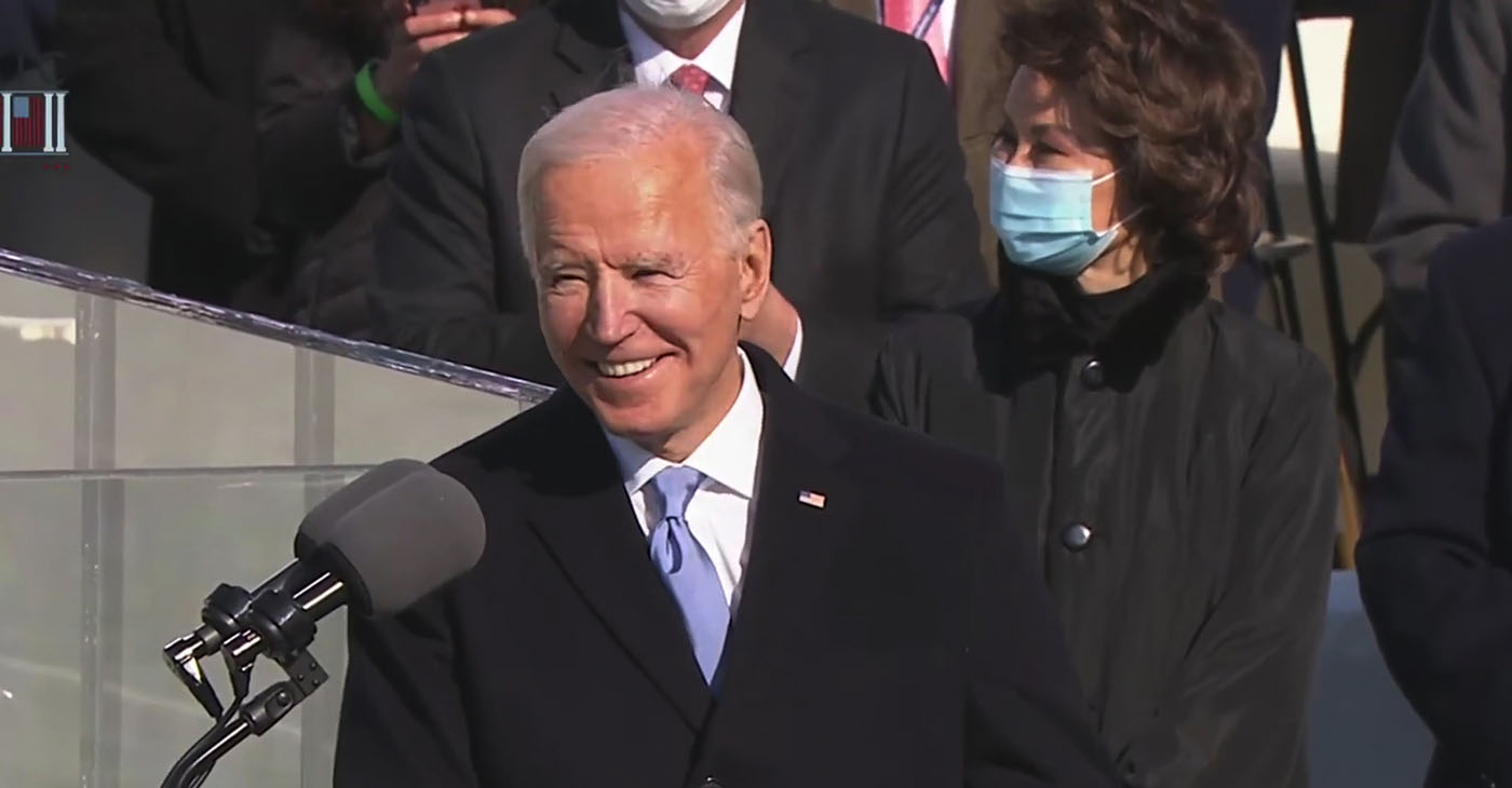 """""""We have learned again that democracy is precious. Democracy is fragile. And at this hour, my friends, democracy has prevailed,"""" said the President Biden."""