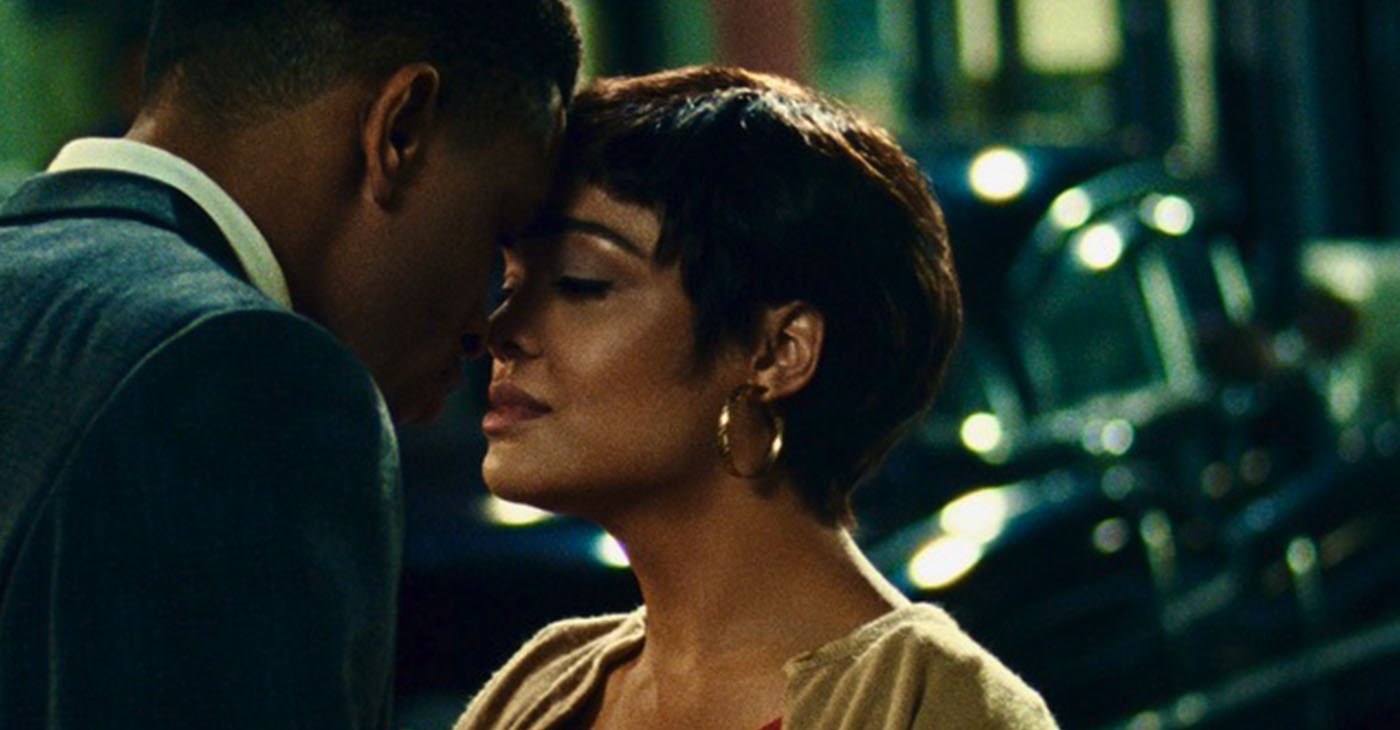 "Nnamdi Asomugha and Tessa Thompson star in ""Sylvie's Love."""