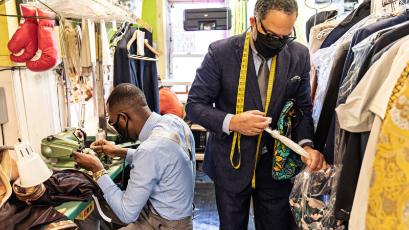 Eddie Lofton is keeping his multigenerational family tailoring business afloat during COVID-19 with help from Wells Fargo.