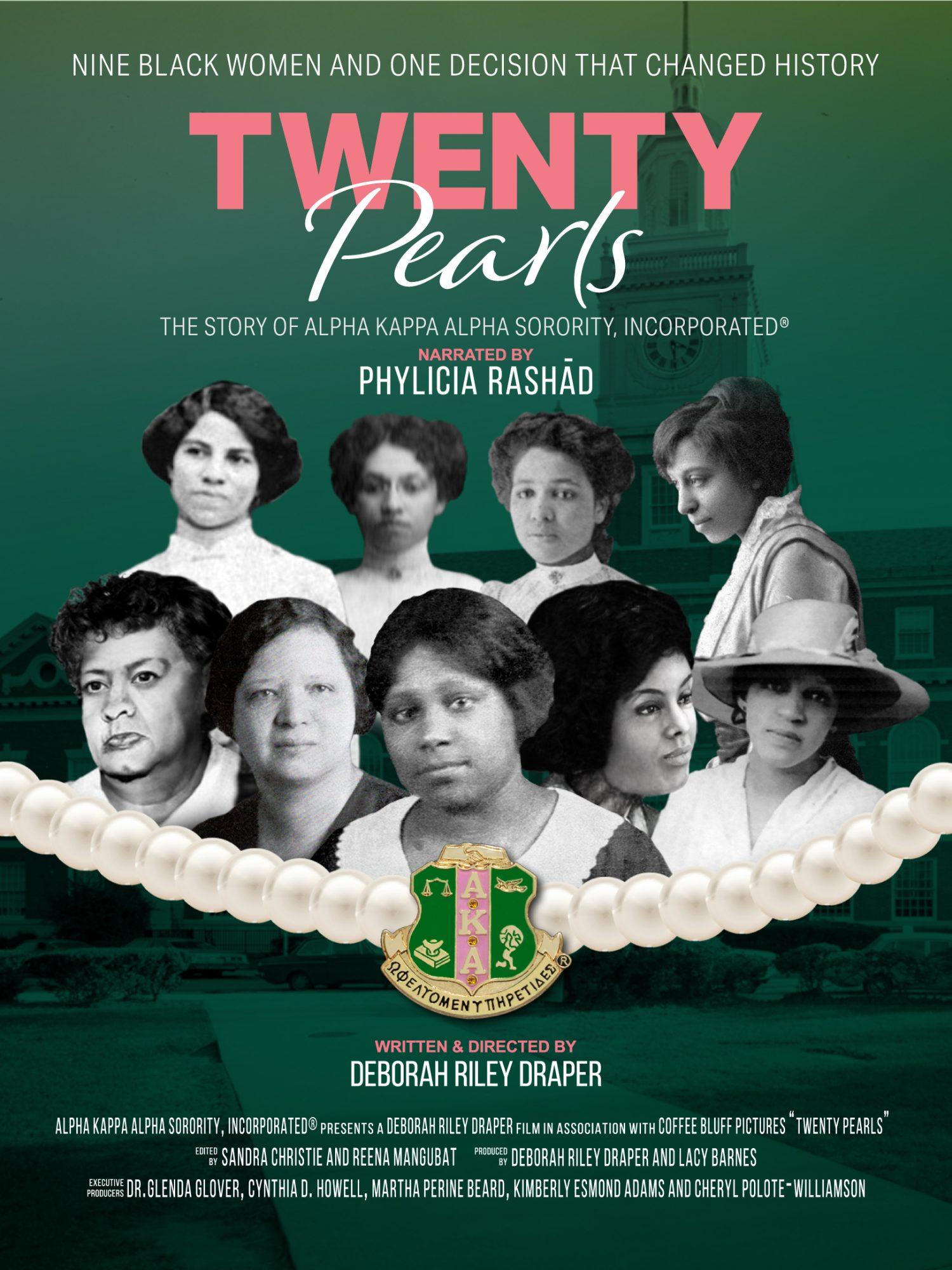 Twenty Pearls tells the universal and historic stories that surround the founding of the sorority and also the intimate stories of some of its members.