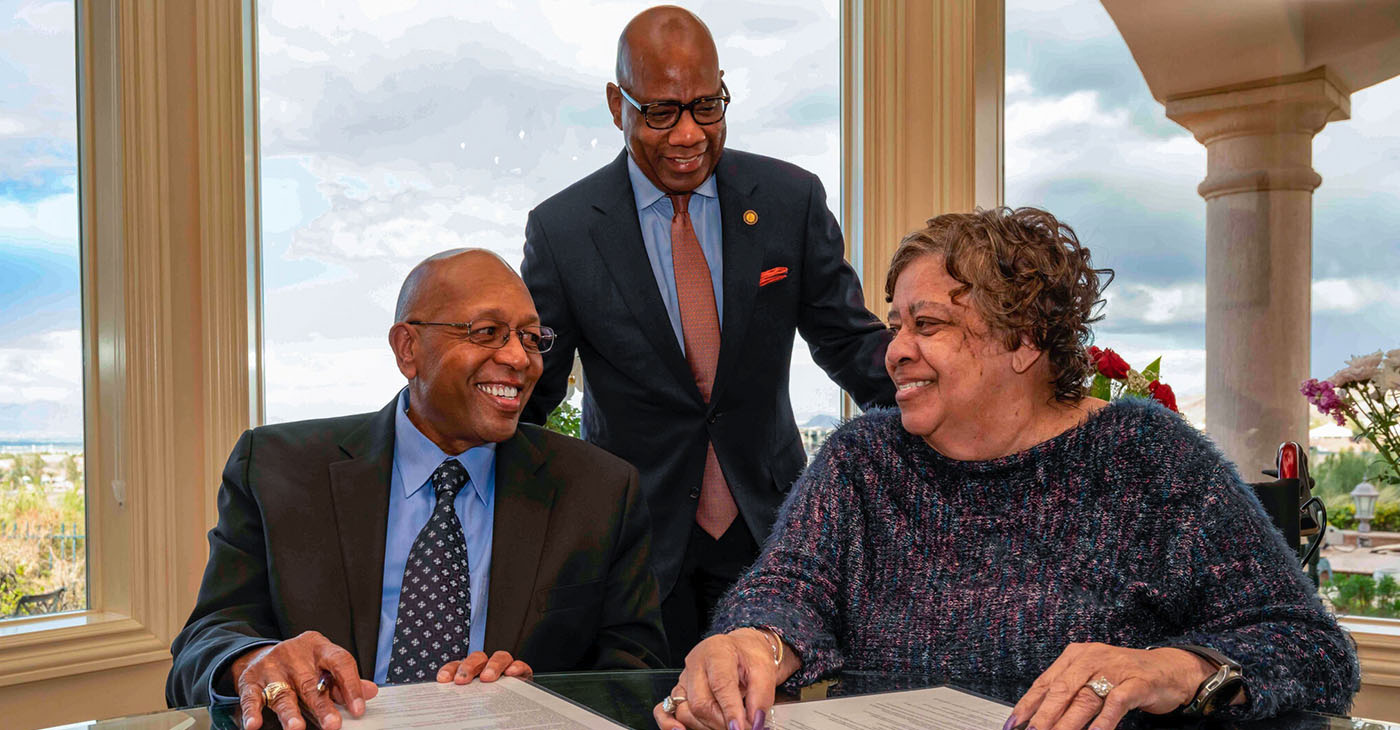 Calvin E. Tyler Jr. and his wife, Tina, presented the historically Black college with a $20 million commitment, increasing an endowed scholarship fund previously established in the Tylers' name.