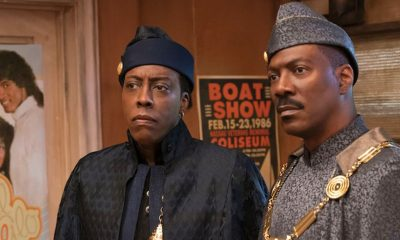 Arsenio Hall (left) and Eddie Murphy are back in Coming 2 America, now streaming on Amazon Prime Video.