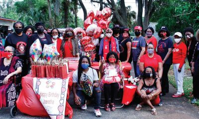 Joeretha Hayes (seated in the center) is shown on March 29 with her sorors of the Daytona Beach Alumnae Chapter of Delta Sigma Theta Sorority, Inc. (Photo: DUANE C. FERNANDEZ SR./HARDNOTTSPHOTOGRAPHY.COM)