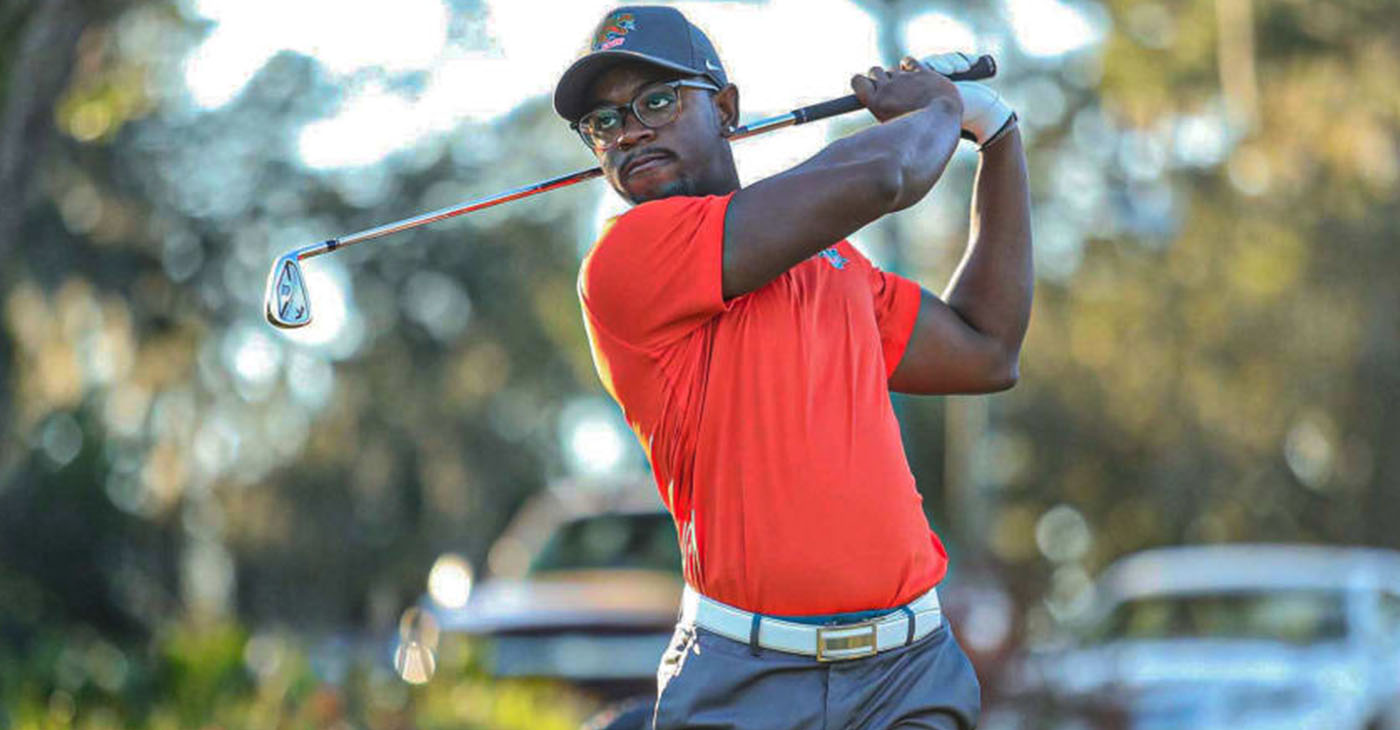 Florida A&M University's Mulbe Dillard has two top-10s in three starts on the APGA Tour as an amateur, and he will make his debut as a professional at the REX Hospital Open, June 3-6. (Photo: PGATour.com)