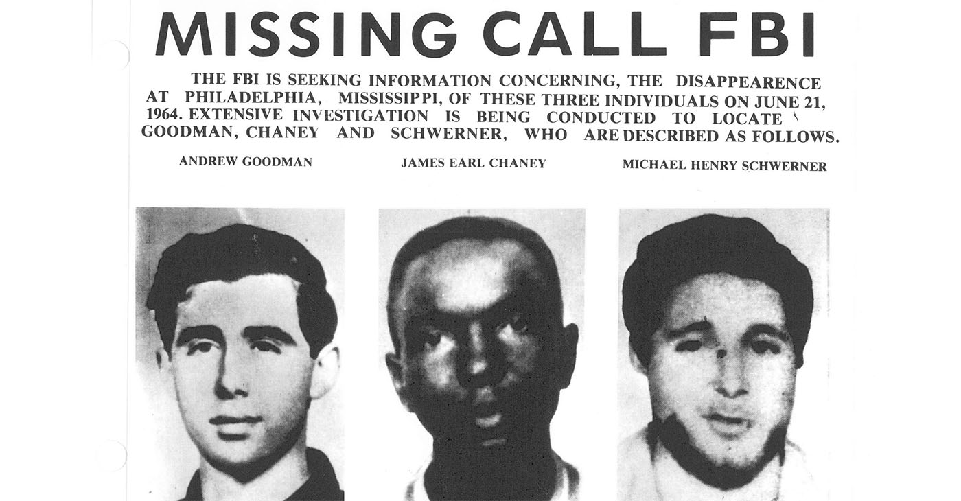 The panel could consider cases like the three civil rights workers in Mississippi – James Chaney, Andrew Goodman, and Michael Schwerner – killed by the Ku Klux Klan in June 1964.